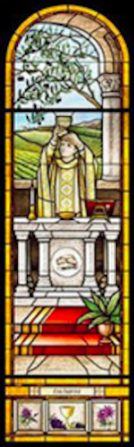 Eucharist Stained Glass
